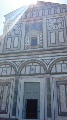 The facade of basilica