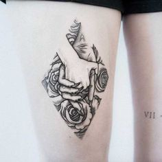 Holding Hand tattoo by Uls Metzger
