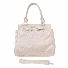 "13""L x 19""H x 6""D - Includes detachable shoulder strap - Has inside pockets and back zipper"