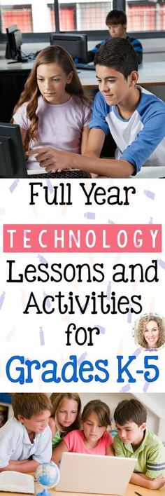 40+ weeks of technology activities for each grade level k-5