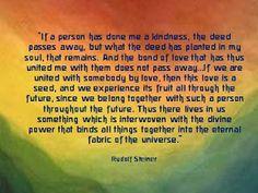 Rudolf Steiner - loving connections