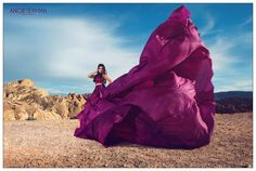 Photographer: Angie Seaman Photography H&MUA: Janea Soliven of JA Make-up Artistry Headpiece: Samantha Ross Designer: Alice Andrews Designs Location: Valley of Fire State Park, Nevada
