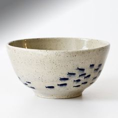 Hand-thrown and Decorated Bowl, with Fish by LucindaChips