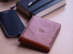 """""""My wallet finally arrived last week. I am stunned! People keep admiring it, which means plus points for you:). Slim Leather Wallet, Slim Wallet, Italian Leather, Iphone, People, Handmade, Bags, Handbags, Hand Made"""