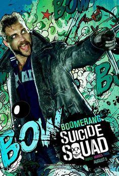 Suicide Squad posters : Jai Courtney est Boomerang