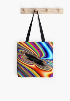 A fractal that looks like a rainbow orbiting and being sucked in to a black hole.  You may see something else. • Also buy this artwork on bags, apparel, phone cases, and more.