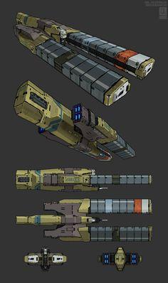 Heavy Cargo Conveyor by Tekka-Croe – de guerra de las galaxias