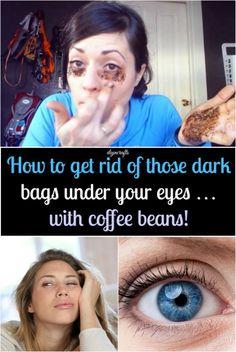 Cómo deshacerse de las bolsas bajo los ojos oscuros ... con granos de café!  {Probablemente la solución más fácil}