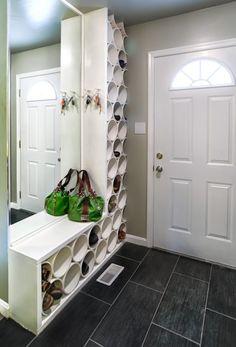 Shoe storage, PVC DIY