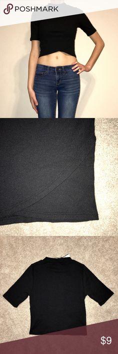 So Rad Black Ribbed Crop Top Mock neck crop top. NWT! S.O.R.A.D Tops Crop Tops