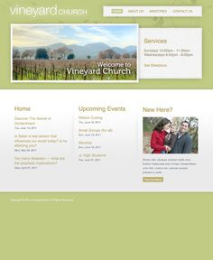 FREE Modern Vine Lime Green Website Template by: testamentdesign.com