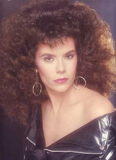 Big bouffant hair from the '80s