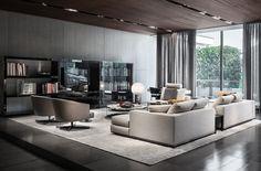 Hamilton seating system and Martin armchairs, Rodolfo Dordoni Design