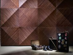 - MOKO Interior's wooden wall coverings generated a great deal of interest at the Design exhibition in London, where the Hungari 3d Wandplatten, Panneau Mural 3d, 3d Wall Tiles, 3d Wall Decor, Appartement Design, 3d Wall Panels, Wall Finishes, Wall Cladding, Wall Patterns