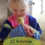 Activities for the country toddler or preschooler