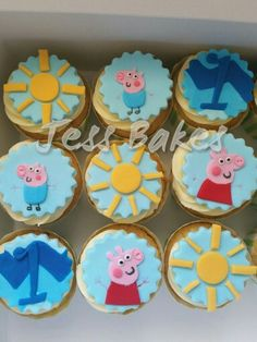 Peppa pig and george pig cupcakes by Jess Bakes www.jessbakes.net