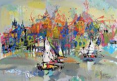 Artwork >> Sergey Yatnov >> yachts (Oil On Canvas) - Inches x 33 Inches) Barnett Newman, Alex Colville, Carl Larsson, Audrey Kawasaki, Andrew Wyeth, Akira, Bo Bartlett, Yachts, Artworks