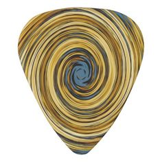 #trendy - #Yellow Blue White Black Swirl Abstract Pattern Guitar Pick