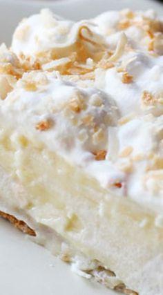 White Chocolate Coconut Cream Pie (Southern desserts)