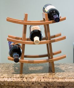 Bamboo Nine-Bottle Wine Rack | Daily deals for moms, babies and kids