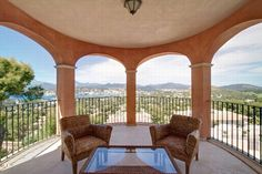 The back of the property provides you with fantastic views of Palma.