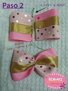 Cfalaicos Hair Accessories Korean Women Pink Bow H Ribbon Hair Bows, Diy Hair Bows, Diy Bow, Diy Ribbon, Bow Hair Clips, Ribbon Headbands, Flower Headbands, Fabric Bow Tutorial, Hair Bow Tutorial