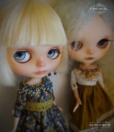 Here are the two dresses which I am going to give on the occasion of the Blythecon Europe
