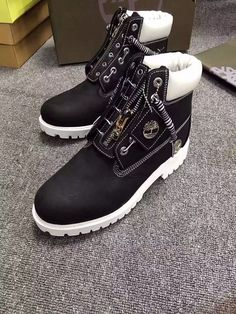 New Timberland Boots For Men 6 Inch Zipper - Black and White ,New Timberland Boots 2017,timberland boots style,timberland Boots classics,timberland waterproof field boots,timberland Boots black