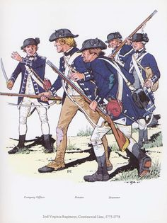 PLATES- CMH: 2nd Virginia Regiment, Copntinental Line, 1775-1778, by Peter F. Copeland.