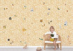Animals Hide & Seek in the Canopy Wallpaper   Available from www.silkinteirors.com.au #wallpaper #wallpaperforwalls #kidswallpaper #nursery
