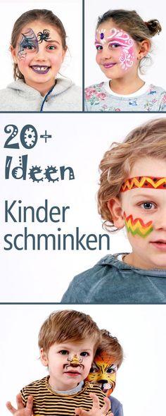 Kinderschminken - über 20 ausführliche How To's., Face paint for kids, ideas