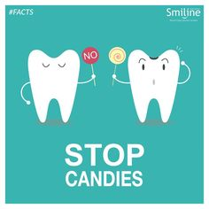 Sugar begins attacking the tooth, but the real cause for cavities are acid and bacteria.  #Smiline #Dental #Care
