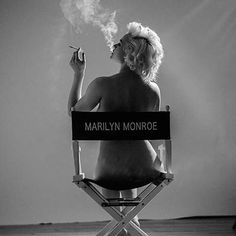 Genie Genevieve, portraying Marilyn Monroe on set in 1961. #tylershields #photography