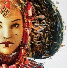 Star Wars | Amidala (look closely at what the illustration is composed of)