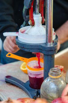 pomegranate juice, granatapfelsaft, streetfood, israel, tel aviv