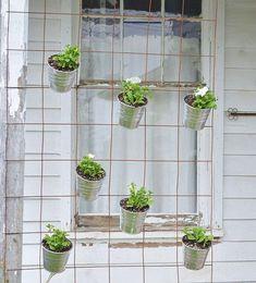 small space vertical garden fence