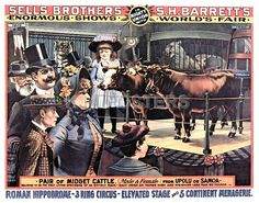 Vintage Sells Brothers & S H Barrett's 3 Ring Circus Poster