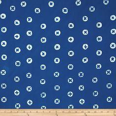 Alison Glass The Blues Batik Dots Blue Fabric