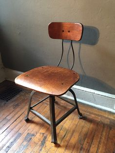 A personal favorite from my Etsy shop https://www.etsy.com/listing/251135941/industrial-drafting-stool-antique-desk