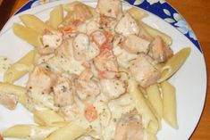 Penne in Lachs-Sahne-Soße Penne, Spaghetti, Low Carb Pizza, Potato Salad, Creme, Shrimp, Healthy Recipes, Healthy Food, Keto