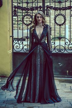 HANNA TOUMA | Haute Couture This dress is beautiful- except for the plunging neckline!