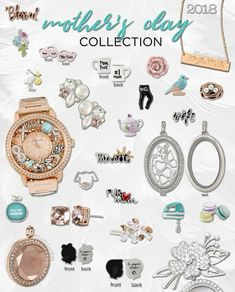 "So tell me, what is your favorite piece from ORIGAMI OWL'S 2018 MOTHER'S DAY COLLECTION?   Don't forget to shop for your ""Mama,"" or maybe the most influential woman in your life, or even for yourself starting at 5 PM CST! https://astorybegins.origamiowl.com/shop/party/433849"