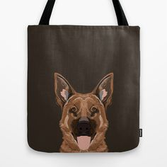 Skylar - German Shepherd gifts for dog people dog lover gifts german shepherd owners perfect gifts  Tote Bag by PetFriendly - $22.00