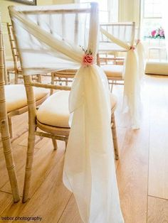 25 Best Chiffon Ruffle Chair Cover Hoods and Wedding ideas