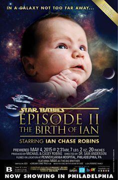 Star Wars inspired Movie Poster Birth Announcement #StarWars #Jedi #newborn