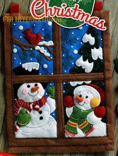 Bucilla Winter Window Felt Christmas Wall Hanging Kit 86732
