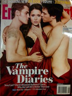 The Vampire Diaries trio of Paul Wesley, Nina Dobrev and Ian Somerhalder have landed the latest cover of EW.