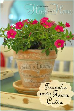 DIY French inspired terra cotta!
