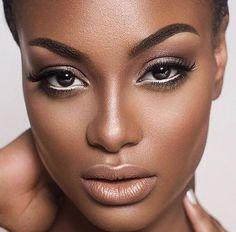 pele negra maquiagem para casamento