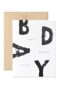 simple bold playful typography make this birthday card super fun